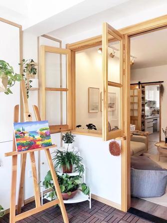 5-10万120平米三室两厅日式风格阳台欣赏图