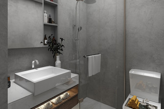 110平米四室一厅北欧风格卫生间图片