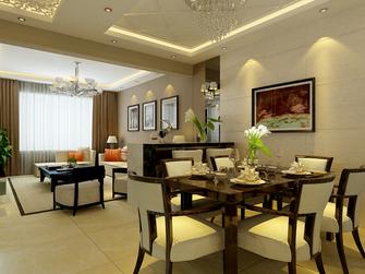 富裕型100平米三室两厅欧式风格餐厅效果图
