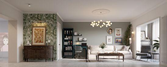 经济型50平米美式风格客厅装修效果图