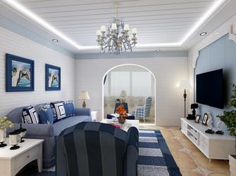 20万以上140平米地中海风格客厅设计图