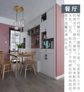富裕型90平米三室两厅北欧风格餐厅图