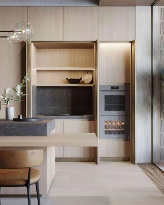 富裕型140平米三室一厅日式风格厨房欣赏图