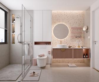 豪华型140平米三室两厅法式风格卫生间图片大全