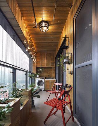 10-15万90平米三室两厅工业风风格阳台装修图片大全