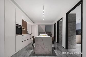 富裕型110平米三现代简约风格厨房设计图