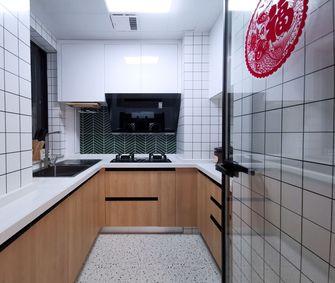 富裕型80平米三室两厅现代简约风格厨房设计图