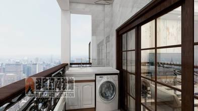 经济型80平米三室两厅中式风格阳台欣赏图
