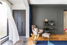 富裕型100平米一室两厅北欧风格阳台图