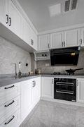 富裕型110平米三室一厅美式风格厨房欣赏图