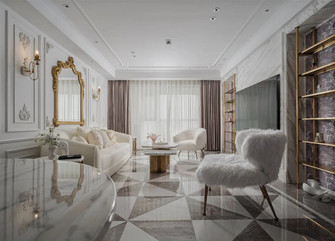 20万以上140平米三室两厅轻奢风格客厅效果图