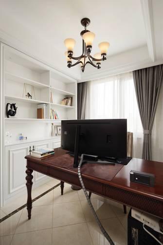 富裕型140平米四室三厅现代简约风格书房图片