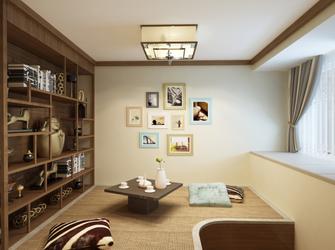富裕型110平米三室两厅北欧风格书房欣赏图