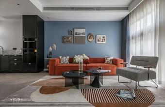 140平米四室一厅混搭风格客厅图片大全