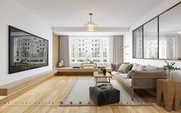 130平米三室两厅日式风格客厅图片大全