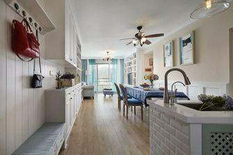 3-5万90平米一室一厅美式风格玄关装修图片大全
