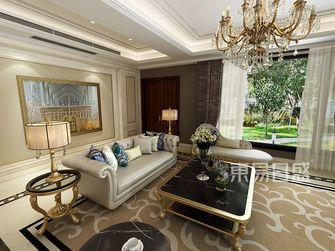 豪华型140平米复式美式风格客厅图片大全