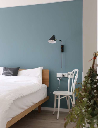 富裕型80平米三北欧风格卧室图