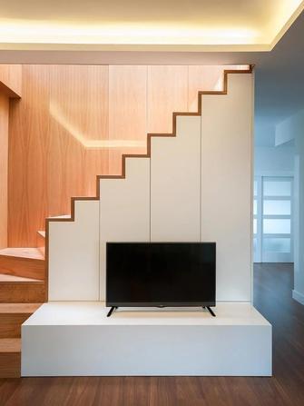 140平米复式混搭风格客厅装修效果图