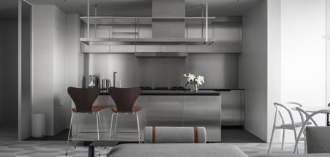 120平米一室一厅工业风风格厨房装修案例