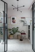 90平米三室一厅新古典风格玄关效果图