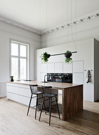 140平米四田园风格厨房设计图