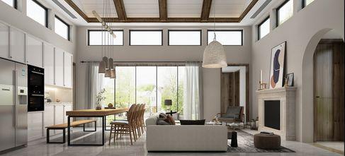 豪华型130平米三田园风格客厅图片大全