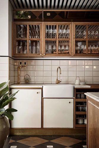 富裕型60平米公寓田园风格厨房图