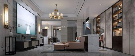 豪华型140平米别墅新古典风格影音室装修案例
