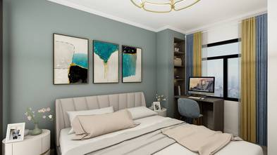 富裕型70平米轻奢风格卧室图片