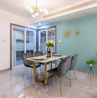 富裕型90平米三室三厅轻奢风格餐厅图片