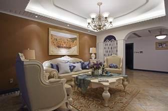 富裕型140平米三室两厅地中海风格客厅图片大全