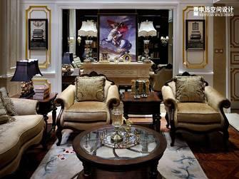 豪华型140平米别墅欧式风格书房图