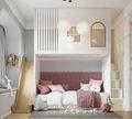 豪华型120平米三室两厅北欧风格卧室装修效果图