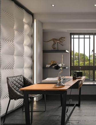 富裕型130平米四室一厅现代简约风格书房装修图片大全