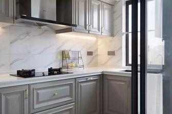 富裕型140平米三室两厅美式风格厨房装修图片大全