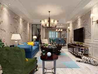 豪华型140平米复式美式风格客厅装修效果图