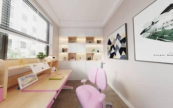 110平米三室两厅轻奢风格书房装修图片大全