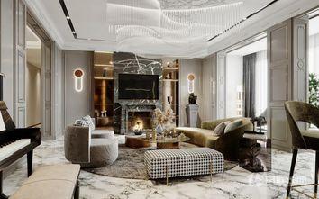 豪华型120平米三室两厅轻奢风格客厅效果图