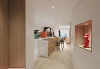 富裕型40平米小户型现代简约风格玄关设计图