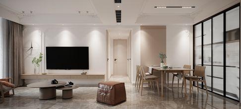 富裕型120平米三室两厅法式风格客厅设计图