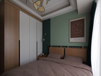 3万以下70平米英伦风格卧室装修效果图
