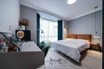 70平米三室三厅北欧风格卧室设计图