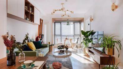 经济型80平米一室一厅北欧风格客厅图片
