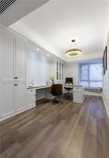富裕型100平米三室两厅美式风格书房欣赏图