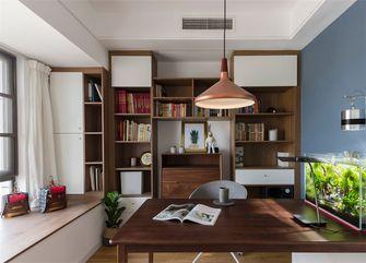 富裕型80平米三室一厅北欧风格书房图