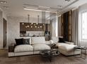 5-10万80平米公寓英伦风格客厅图