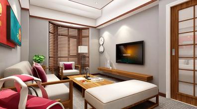 经济型50平米公寓中式风格客厅装修图片大全