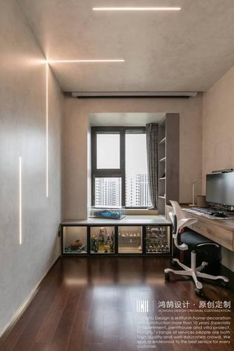 3-5万90平米三室两厅混搭风格书房效果图