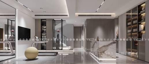 100平米三现代简约风格影音室装修案例